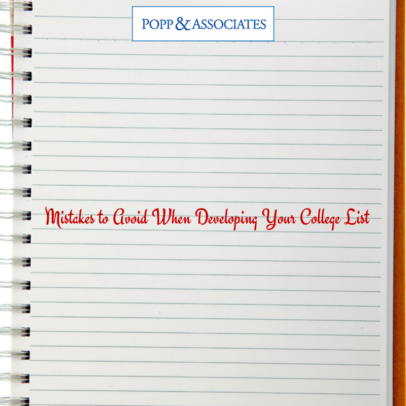 Mistakes to Avoid When Developing Your College List